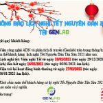 Thông báo lịch nghỉ Tết Nguyên Đán 2021 tại Genlab
